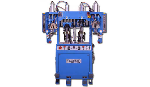 YK-998W-HC Double Cooling & Heating Backpart Moulding Machine With Flanging Wipers